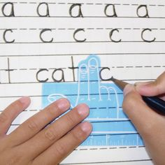 Finger spaces ruler...I used these in my K class -