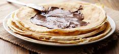 panquecas de chocolate e avelas