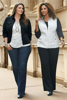 Shop our plus size fall layering jackets.