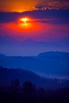 Cuetzalan's Sunset by Luis Montemayor