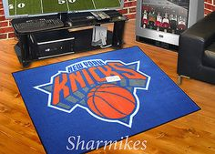 "New York Knicks 34""x45"" NBA Man Cave All-Star Area Rug Mat in Sports Mem, Cards & Fan Shop, Fan Apparel & Souvenirs, Basketball-NBA | eBay"