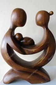 Resultado de imagem para esculturas abstratas em madeira