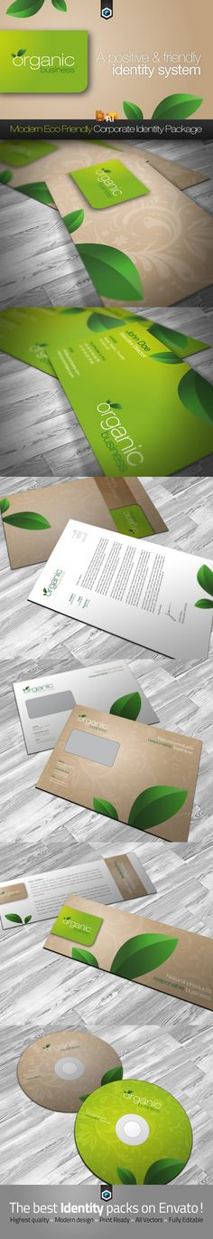 organic business corporate identity by reclameworks