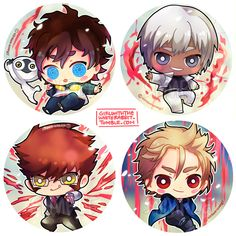 girlwiththewhiterabbit: kekkai sensen badges to debut this cosfest as badges, please look out for it! i actually really dislike monkeys irl….BUT SONIC IS aaaa asdfghjkl <3