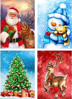 Xmas Santa Claus Snowman Diamond Painting 5D DIY Embroidery Cross Stitch Art