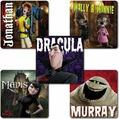 Hotel Transylvania Stickers - 75 Pack by SmileMakers Inc. $6.29. 2.5 inches. 5 Designs. 75 Stickers per pack. Get all the great stickers from the hit movie Hotel Transylvania. Don't miss Dracula, Murray, Mavis, Wally, Winnie, and Jonathan.