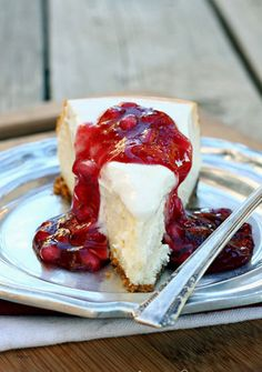 Pomegranate Cheesecake Recipe  http://www.letsdishrecipes.com/2013/12/pomegranate-cheesecake.html