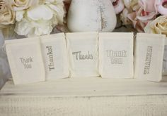 Wedding Favor Bags Thank You Rustic Shabby Chic Candy Bags Dessert Bar SET of 100. $100.00, via Etsy.