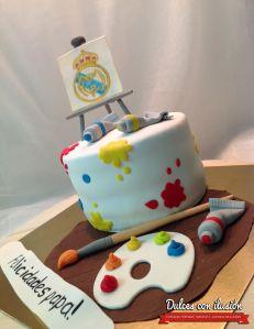 tarta para pintor