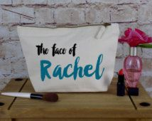 Personalised Make Up Bag Or Wash Bag - Ideal Birthday Present, Wedding or Christmas Gift - Unique Gift for Bridal Party - Honeymoon wash bag