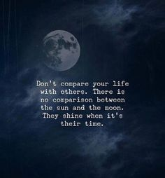 Dont compare your life with others..