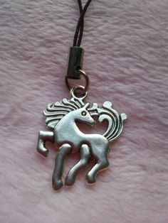 Silver coloured metal horse pony equine phone by CraftyBunnyDog, £2.00