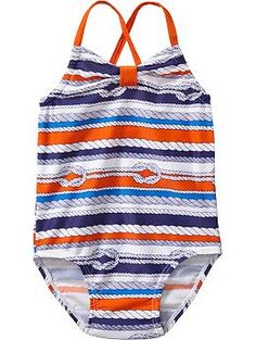 Rope-Print Swimsuits for Baby Old Navy Baby Girl, Old Navy Girls, Baby Girls, Sophie's World, Old Navy Swimsuits, Terry Long, Baby Girl Swimsuit, 1 Piece Swimsuit, Kids Swimming