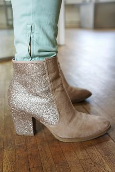 Glittered boots h