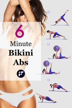 How to get a flat stomach and toned abs in just 6 minutes. This is one of the ab and core days in the 4-Week Bikini Body Transformation Plan. Is your body bikini ready? #bikinibody #bikiniworkout #absworkout