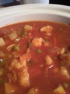 Crock pot Vegetarian Vindaloo. SOO very good! (And super easy...plus low in fat and full on flavor)