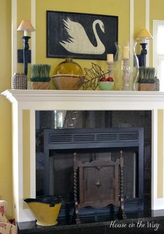Mantel  Decorations : IDEAS & INSPIRATIONS : A Simple Fall Mantel