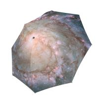 Easy Carry Windproof Sun Block Outer Space Universe Scene Planets Stars And Galaxies Travel Parasol Compact Umbrella