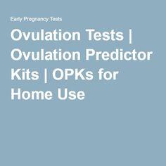 Ovulation Tests | Ovulation Predictor Kits | OPKs for Home Use