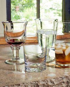 -4G09   Savannah Goblets, Set of 4 Savannah Highballs, Set of 4 Savannah Double Old-Fashioneds, Set of 4