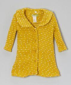 Look at this #zulilyfind! Yellow Zoe Coat - Toddler & Girls #zulilyfinds
