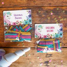 Unicorn favor bags from a Pastel Unicorn Birthday Party on Kara's Party Ideas   KarasPartyIdeas.com (3)