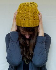 jane hat in mustard // cut cut sew