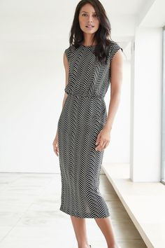 Buy Printed Chevron Dress online today at Next: Canada