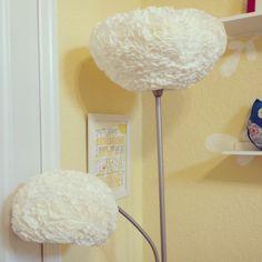 Leah's room: DIY flower lamp