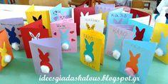 Βρήκα στο doeyandowlette.com μια χαριτωμένη και απλή πασχαλινή ιδέα για καρτούλα και αποφάσισα να τη δοκιμάσω! Επειδή είχα κάποια... Happy Easter, Projects To Try, Fingerprint Heart, Bunny, Bunnies, Easter Activities, Happy Easter Day
