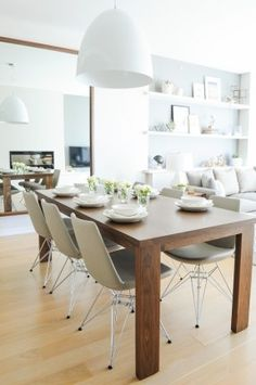 Modern Dining Room Design Ideas - We've obtained inspo for days to help obtain you began, whether you're looking for modern ideas in dining-room style, furnishings, wall art, as well as more. Condo Design, Küchen Design, Interior Design, Design Ideas, Modern Design, Rustic Design, Room Interior, Design Projects, Contemporary Design