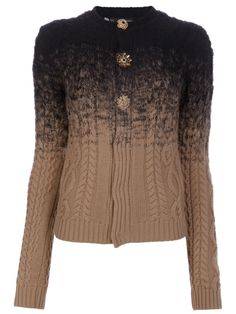 DSQUARED2 - Cable knit cardigan by farfetch