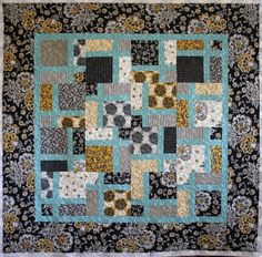 12/2013  Windowpane Disappearing Nine Patch that I made, inspired by Missouri Star Quilt Company
