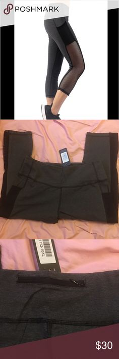 BNWT yoga pants Beautiful brand new 92% cotton Yoga pants with mesh on the side, a zipped pocket on the back, 2 mesh side pockets & 8% Spandex (stretch material) Boutique Pants