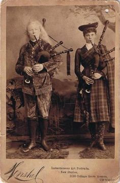 RARE Real Photo Cabinet Card Occupational Musicians Bag Pipe Players Scottish | eBay