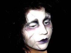 Edward Scissorhands Make-up Tutorial. Goldiestarling is awesome! Check her whole channel out.