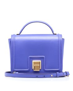 Leather bag with remuvable shoulder strap, and handle on the top of the #bag by Emanuel Ungaro