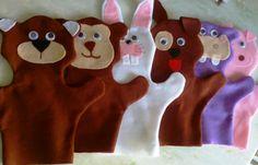 Fantoche Animais(urso, macaco, coelho, cachorro, hipopótamo e porco) Em feltro liso, 50 cm de altura x 40 cm de largura.  R$ 30,00 Unidade  Peça pelo cel 34/9176-6403-Enviamos para todo o Brasil.