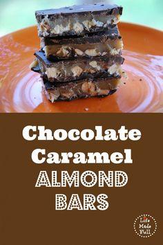 Chocolate Caramel Almond Bars - Life Made Full www.lifemadefull.com