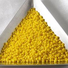 20 Grams Size 11/0 Miyuki Japanese Glass Seed Beads Opaque Yellow Luster via Etsy