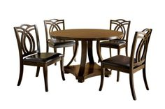 Furniture of America Fluxeur 5-Piece Round Dining Table Set, Dark Walnut Furniture of America http://www.amazon.com/dp/B00H0HZOFC/ref=cm_sw_r_pi_dp_H.O3tb1S7N08AC0F