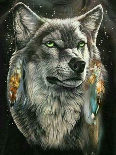 American Indian Art, Native American Art, Wolf Hybrid, Wolf Artwork, Wolf Painting, Wolf Tattoo Design, Wolf Wallpaper, Wolf Pictures, Beautiful Wolves