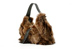 Zorro Handbag by airedelsur, materials: leather & alpaca #fur #handbag