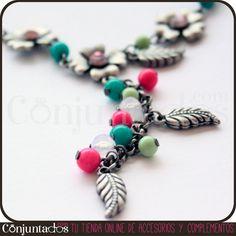 Empezamos el día con este precioso #Collar con flores, hojas y abalorios de colores. ¡Un toque vintage que queda ideal con vestidos de estilo romántico. ¡El collar perfecto para dulcificar tu aspecto! ¡Solo 11¡95 €! http://www.conjuntados.com/collar-con-flores-hojas-y-abalorios-de-colores.html #necklaces #fashion #accesorios #complementos #bisuteria #jewelry #bijoux #shopping #trendy #tendencias #tendances #moda #estilo #style #PymesUnidas