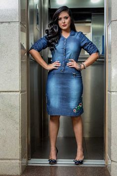 aca33e06a0 27 Best The Denim Dress images
