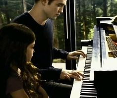 Father and daughter piano lessons. :)