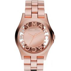 Montre Marc by Marc Jacobs henry Skeleton, Montre Luxe or rose - Femme MBM3207