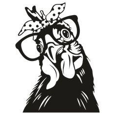 Logo Rabbit, Glasses Logo, Rabbit Head, Chicken Art, Cricut Craft Room, Pet Chickens, Silhouette Portrait, Animal Logo, Vinyls