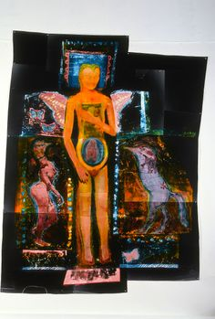 LA VIE EST LE DEBUT DE LA MORT, assembled photographic image from constructed negatives polychromed with photographic toners, 6' x 8'
