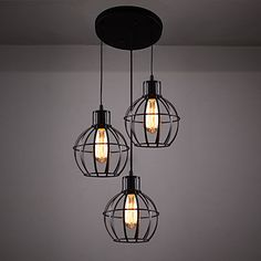 Pendant+Light+,++Retro+Country+Painting+Feature+for+Designers+Metal+Bedroom+Dining+Room+Kitchen+Study+Room/Office+Kids+Room+–+AUD+$+323.90